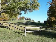 Vermont scene with wooden fence